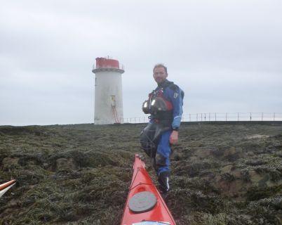Landing on Angus Rock